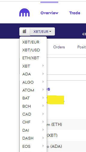 Screenshot Währungspaar