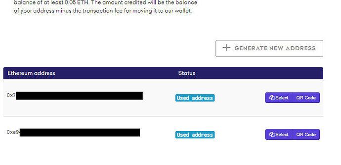 Screenshot Übersicht der Adressen