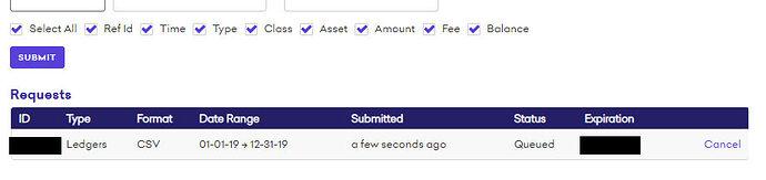 Screenshot CSV wird generiert
