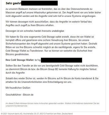 SCAM bitcoinDE