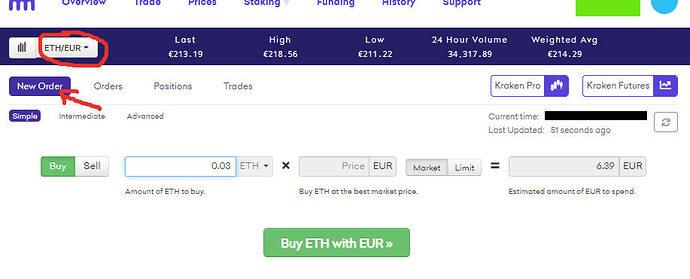 Screenshot ETH kaufen