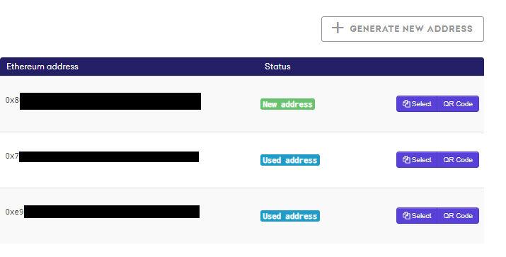 Screenshot Neue Ziel-Adresse